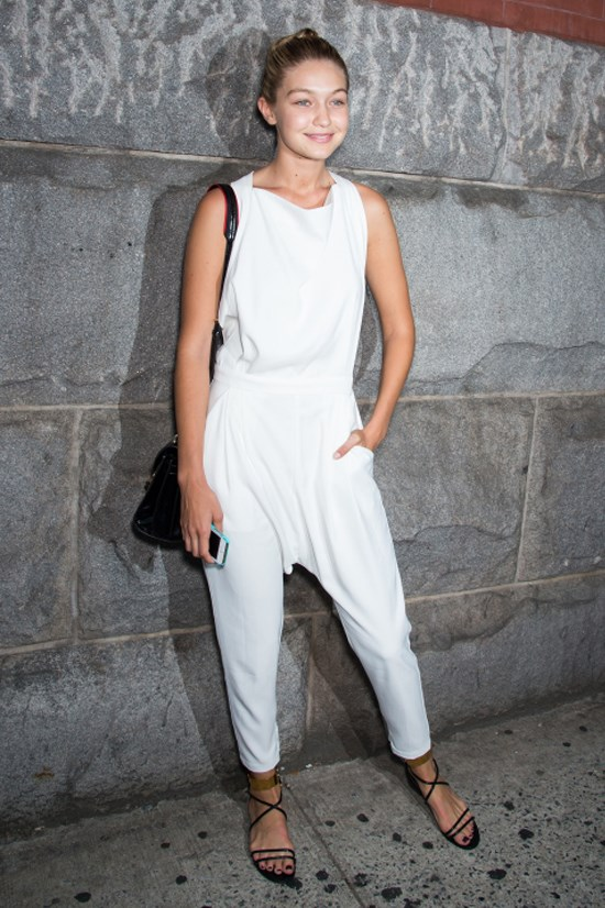 <strong>SEPTEMBER 11, 2014</strong> <BR> Outside Lincoln Center during New York Fashion Week