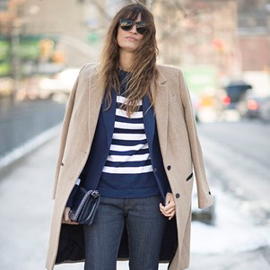 Celebrities wearing breton stripes