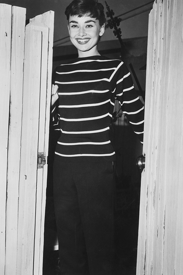 Stripes were a perfect fit for Audrey Hepburn's classic style.