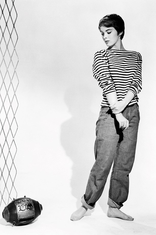 French actress Jean Seberg wore stripes so very well.