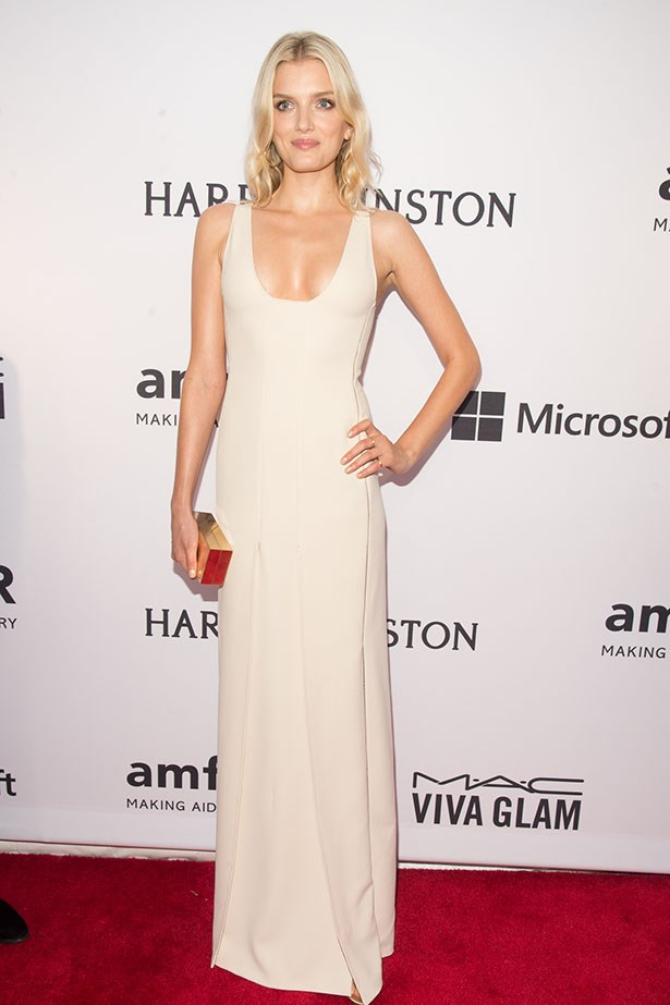 Lily Donaldson at the amFAR Gala.