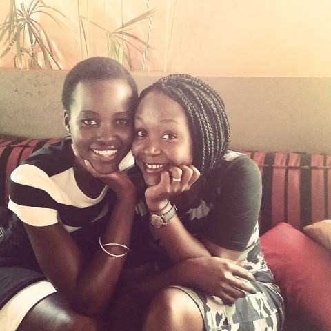 """<strong>LUPITA NYONG'O</strong> <BR> One more, with feeling.#ladieswholunch Anne Kansiime, a woman of spirit, heart and substance with a killer smile. @kansiime256 #struckbyastar <BR> —<a href=""""https://instagram.com/p/2BwMzznuT1/"""">@lupitanyongo</a>"""