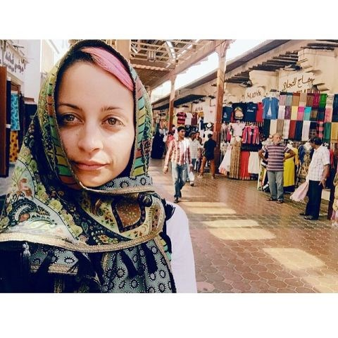 "<strong>NICOLE RICHIE</strong> <BR> Found some bomb fabrics in the souk #DUBAI @Houseofharlow1960#inspirationiseverywhere <BR> —<a href=""https://instagram.com/p/ym0MuOJumU/"">@nicolerichie</a>"