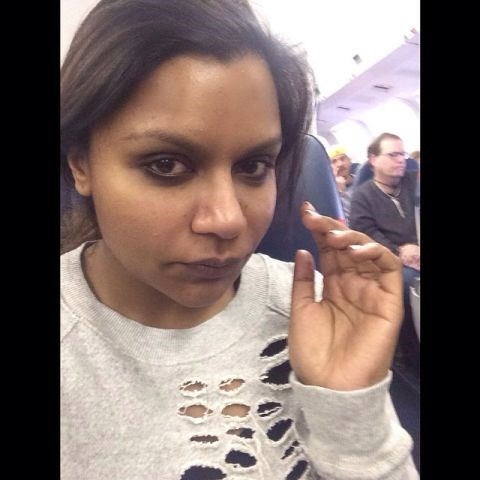 """<strong>MINDY KALING</strong> <BR> That morning flight life. <BR> —<a href=""""https://instagram.com/p/y2AGAFJQzs/"""">@mindykaling</a>"""