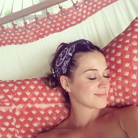 """<strong>KATY PERRY</strong> <BR> Swaying on the hammock under mango trees, fresh freckles on my face, everything irie. <BR> —<a href=""""https://instagram.com/p/pAgHsUv-RO/"""">@katyperry</a>"""