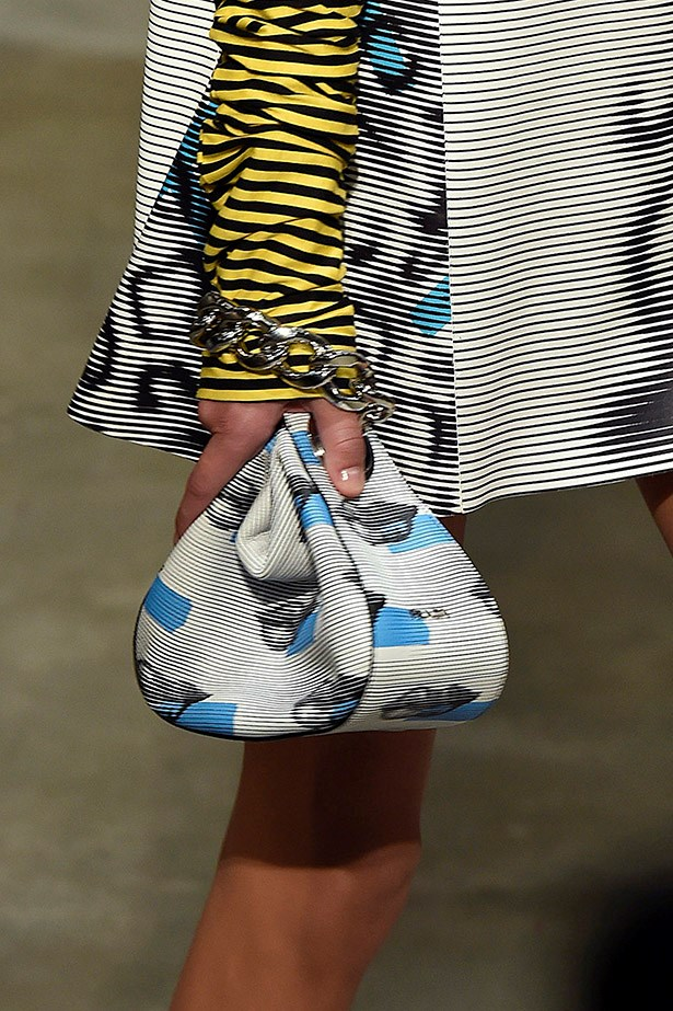 Cute accessories at Prada Resort 2016 in Milan.