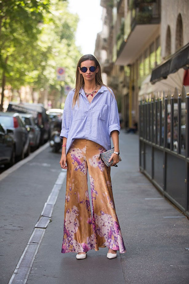 Re-think your blue button down for summer, it goes with everything. Esp blousy pants.