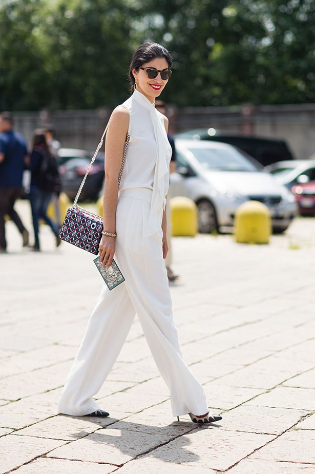 Is there anything quite as chic as an all-white ensemble in summer? Prolly not.