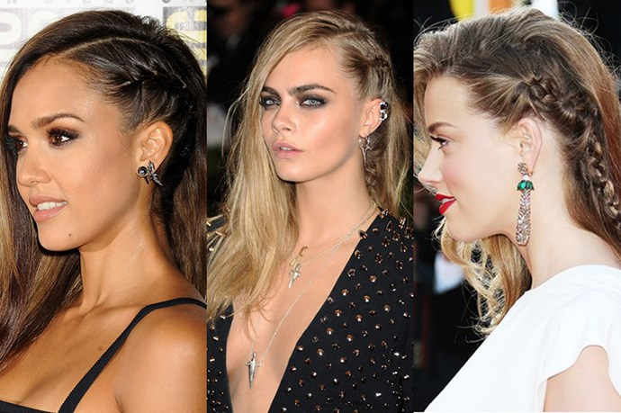 <strong>The Warrior Braid</strong> <br> <br> Pretty much every celebrity tried the entry-level cornrow at some stage in 2014. <br> <br> <strong>Jessica Alba; Cara Delevingne; Amber Heard</strong>