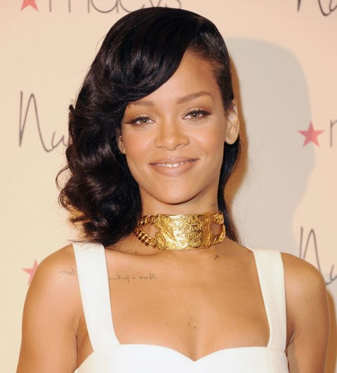 DECEMBER 1, 2012 At the 'Nude by Rihanna' Launch