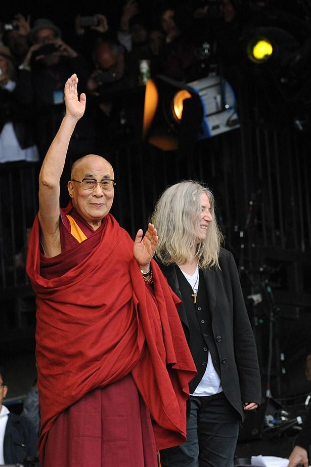 The Dalai Lama and Patti Smith (!!!!!)