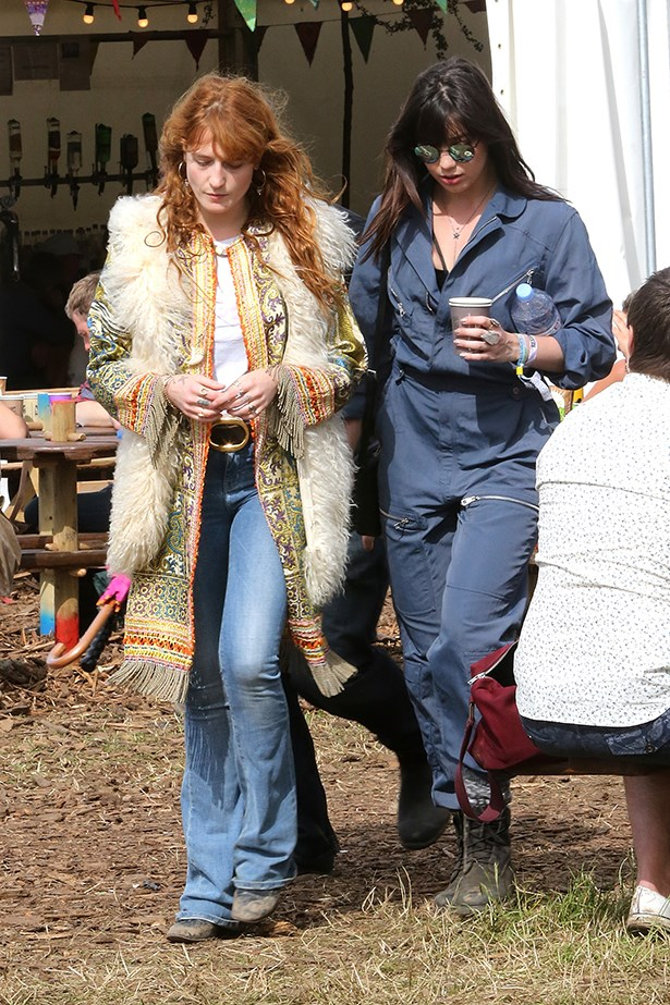 Florence Welch and Daisy Lowe.