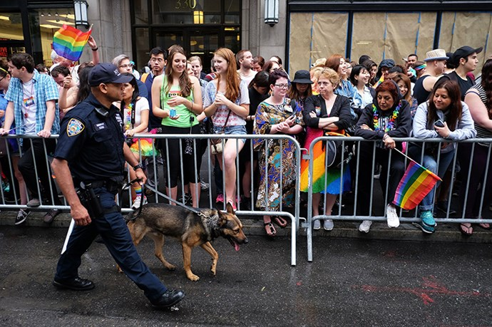 New York cop gets down at Pride Parade