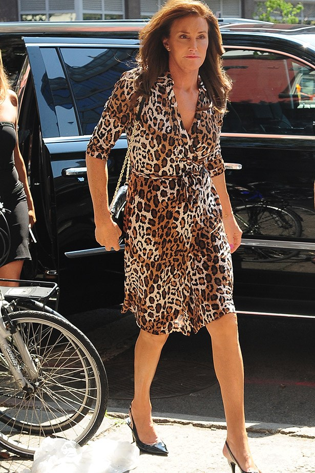 Lady in leopard.