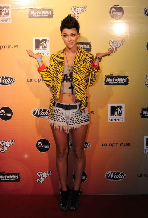 NOVEMBER 11, 2010 Attending the MTV Summer Party.