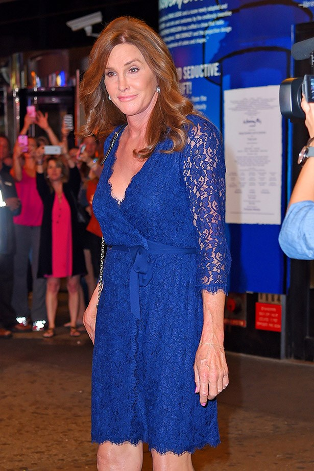 Wearing electric blue in New York, June 30.