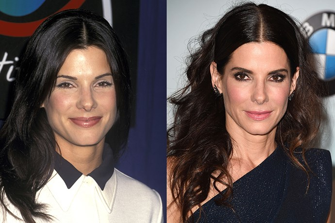 <strong>SANDRA BULLOCK </strong> <br><br>Age: 50 <br><br>The actress certainly has a rockin' bod, but her secret to that is good old-fashioned hard work: She's been spotted doing Pilates, kick-boxing, and weight-training up to six days a week. And that seventh day isn't just for rest, but for indulging – Bullock allots herself one cheat day from a more stringent, healthy diet. <br><br>As for her glowing complexion, the actress tries to stay out of the sun, but it also helps that she's the face of Artistry, a luxury skincare line. (It's pricy, but clearly effective.)