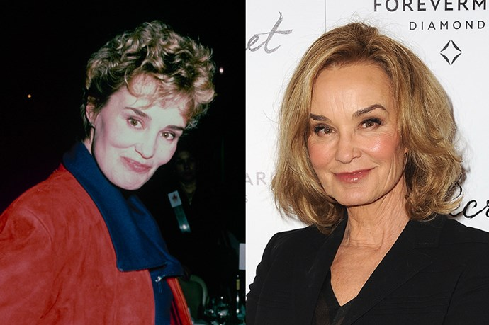 <strong>JESSICA LANGE</strong> <br><br>Age: 66 <br><br>American Horror Story basically ages us each time we watch it, but the same can't be said for its Emmy-winning star. Lange has matured as gracefully as her 38-year, illustrious career (which kicked off with her turn in King Kong in 1976). <br><br>Unfortunately for us, the actress has remained tight-lipped about her regime. (But since she was recently dubbed the face of Marc Jacobs Beauty, we might assume she favours products from the line.)