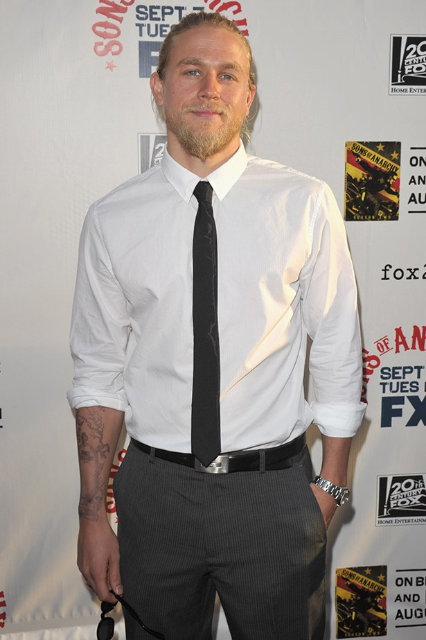 You can't see it, but trust us when we say that Charlie Hunnam has a ponytail and it is a thing of wonder.