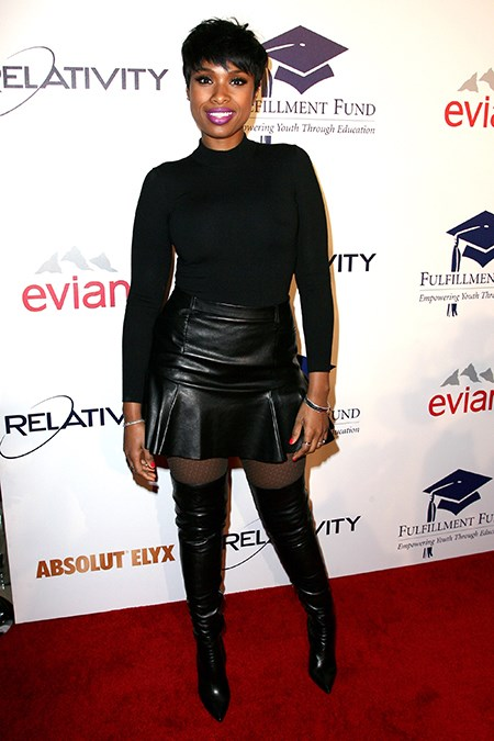 Jennifer Hudson takes her thigh high game seriously.