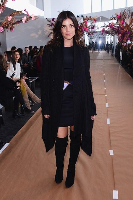 Fashion royalty, Julia Restoin Roitfeld, zips up at Gabriela Cadena.