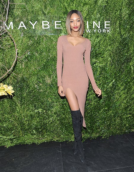 We'll have whatever she's having! Jourdan Dunn gives us serious leg envy in this nude and black combo.