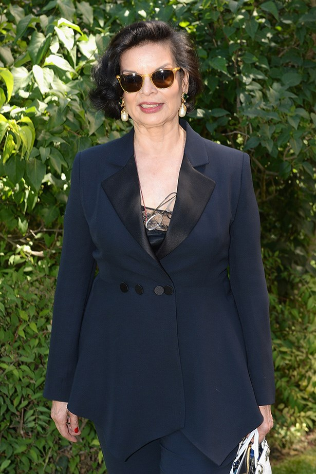 Bianca Jagger attends the Christian Dior show.