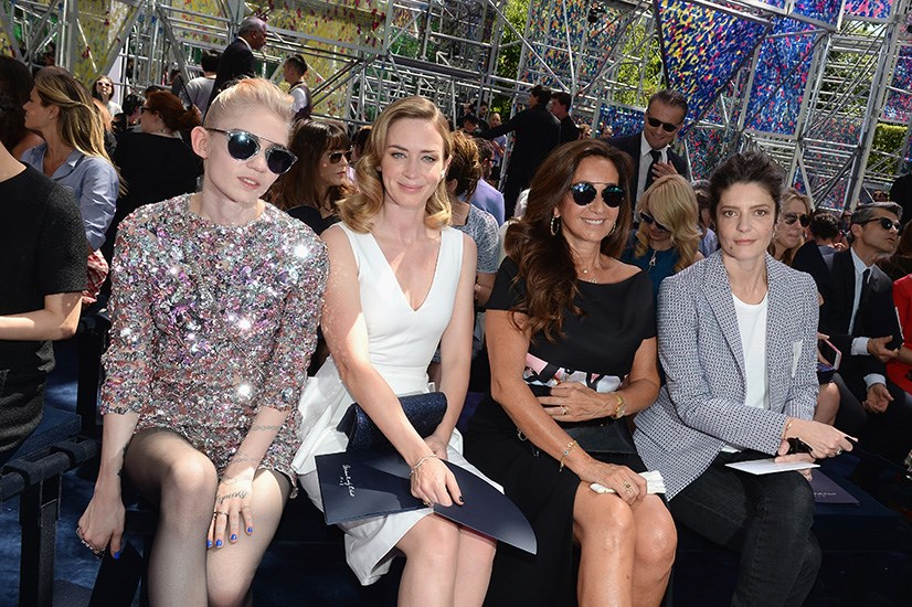 Grimes and Emily Blunt at Christian Dior.