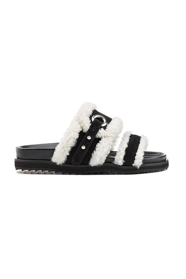 Slides, $675, Alexander McQueen, net-a-porter.com