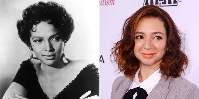 Dorothy Dandridge (1950) and Maya Rudolph