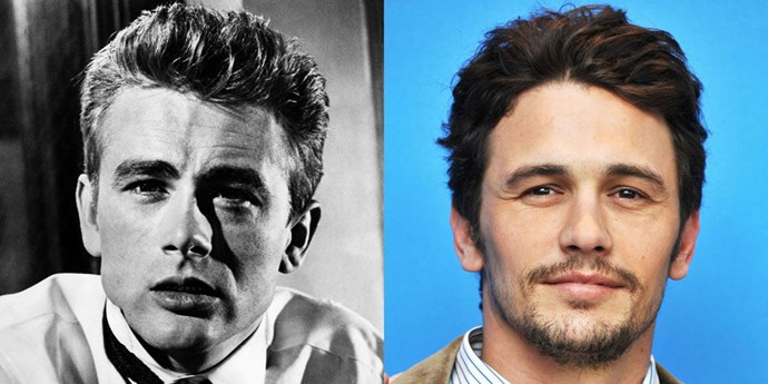 James Dean (1950) and James Franco