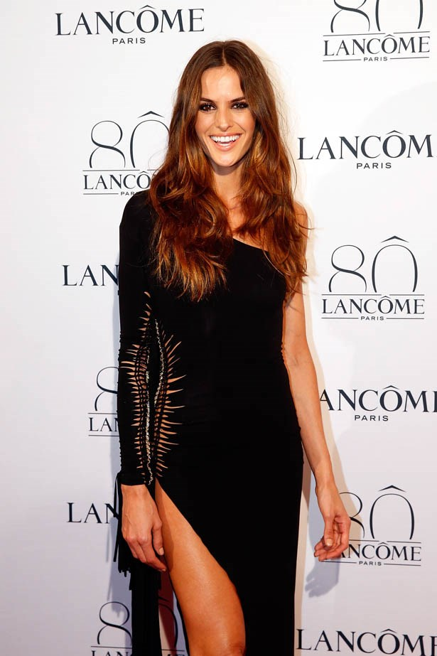 Izabel Goulart attends Lancôme's 80th anniversary in Paris.
