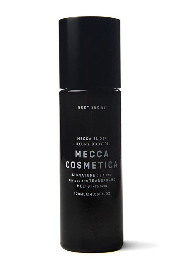 "<strong>The ultimate skin soother  </strong> <br><br>Elixir Body Oil, $98, Mecca Cosmetica, <a href=""http://mecca.com.au/mecca-cosmetica/elixir-body-oil-120ml/I-017489.html#prefn1=brand&prefv1=Mecca+Cosmetica&start=1"">mecca.com.au</a>"