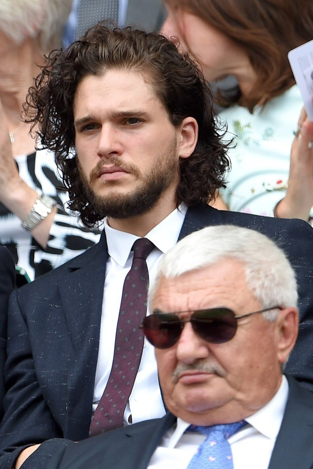 This photo of Kit Harington with his Jon Snow hair basically set the internet on fire with rumours and spoiler alerts re his Game of Thrones ending.