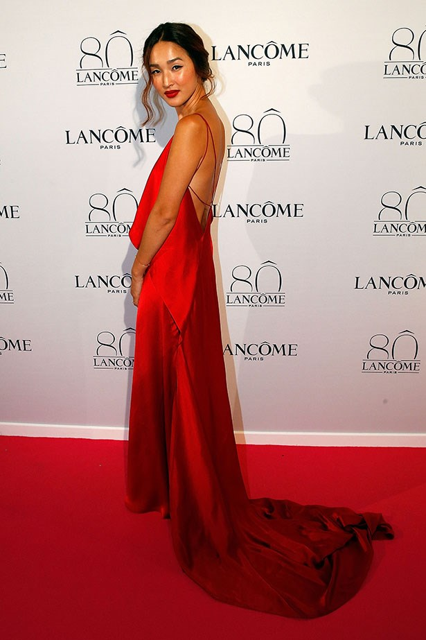 Could our cover girl Nicole Warne look any more amazing? The super-star digital influencer repped Australian designer Michael Lo Sordo at the fancy Lancome 80th birthday party in Paris. And boy did she look like some sort of Grecian goddess. Wowsers.