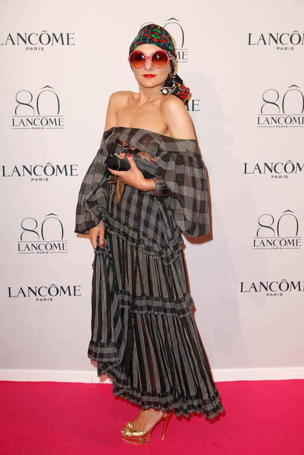 Catherine Baba attends Lancôme's 80th anniversary in Paris.