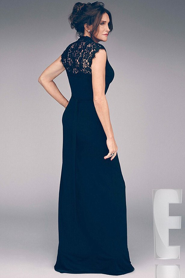 Woah. Caitlyn Jenner has just released a promotional photo for her upcoming eight-part series on E! I Am Cait and it is GORGEOUS. The long, lace navy evening number is like, peak glamour.