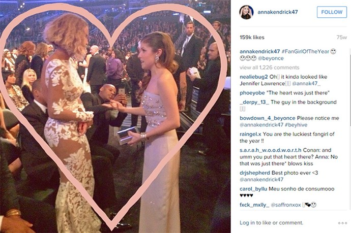 Anna Kendrick fangirling over Beyonce is the cutest, and most understandable, thing ever. Hearts forever.