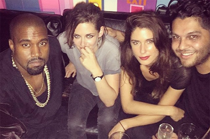 """<p><strong>Kanye West and Kristen Stewart</strong> <p>Non-smiling """"we know we're blowing your mind"""" friends."""