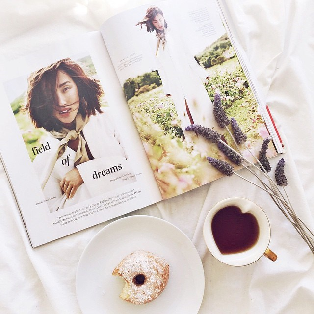 @nadinepougnet: Dreaming of the South of France with this incredible editorial of @garypeppergirl for @elleaus ️ P.S are #cronuts an acceptable #breakfast? #NicoleWarnexElleCover