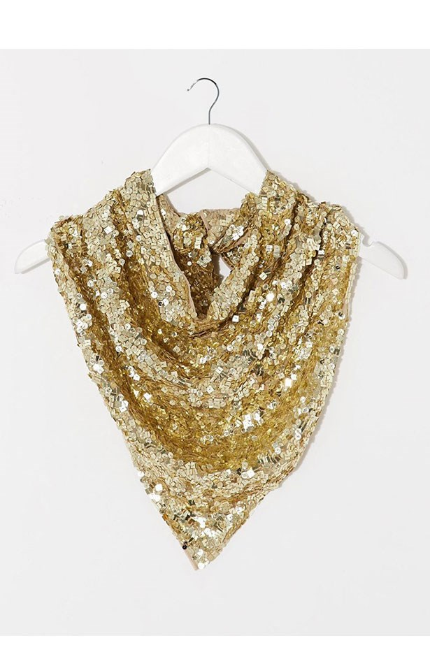 "Neckerchief, $35, Asos, <a href=""http://www.asos.com/au/asos/asos-embellished-neckerchief/prod/pgeproduct.aspx?iid=5126021&clr=Gold&SearchQuery=neckerchief&pgesize=11&pge=0&totalstyles=11&gridsize=3&gridrow=1&gridcolumn=1""></a>"