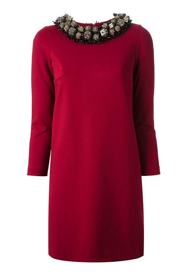 "Dress, $2,495, Dsquared2, <a href=""http://www.farfetch.com/au/shopping/women/dsquared2-embellished-dress-item-10787369.aspx?storeid=9808&ffref=lp_27_4_""></a>"