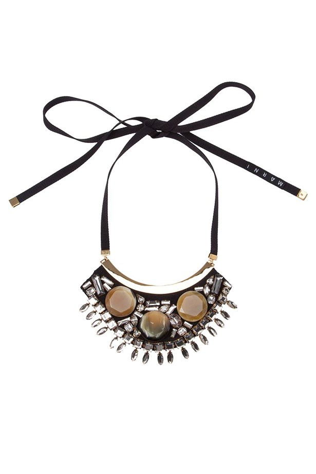 """Necklace, $500, Marni, <a href=""""http://www.farfetch.com/au/shopping/women/marni-embellished-necklace-item-10815578.aspx?storeid=9548&ffref=lp_29_2_""""></a>"""