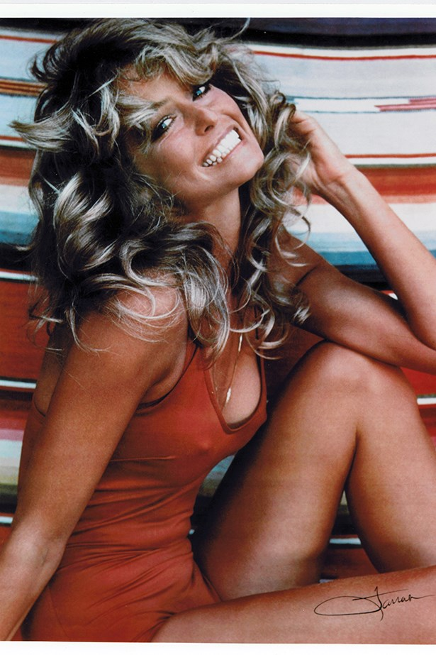 So it turns out pretty much everyone had this Farrah Fawcett poster on their wall in the 80s and not just us.
