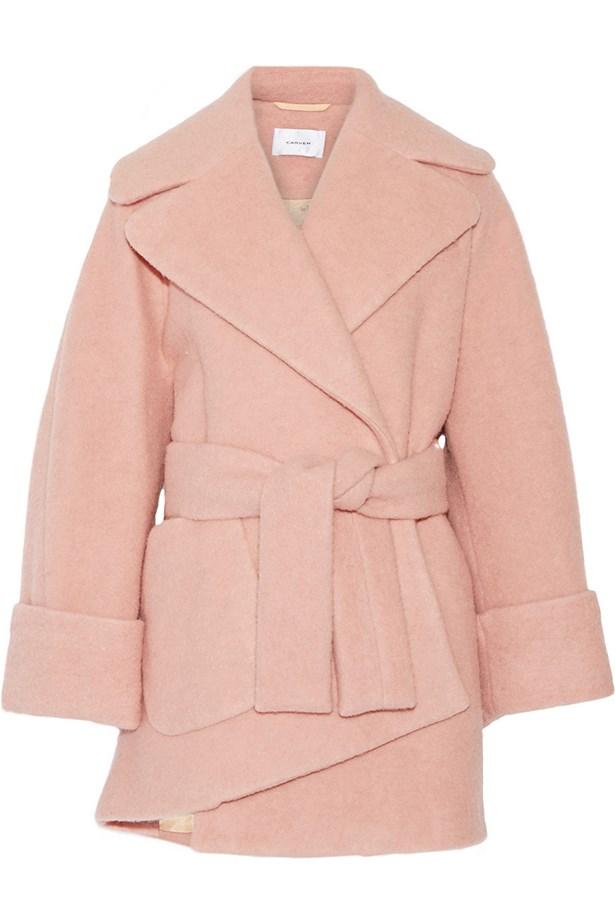 Coat, $835.53, Carven.
