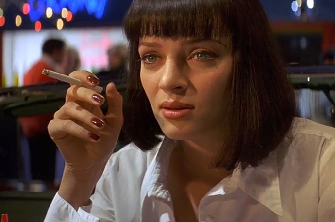 <strong>Pulp Fiction</strong> <br> <br> Now <em>Chanel </em>is known for creating cult nail polish shades, but <em><strong>Uma Therman'</strong>s</em> <em>Vamp</em> manicure is where it all began.