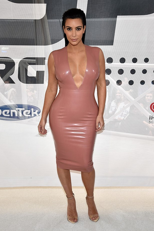 Kim will never stop loving latex. And we love her for that.