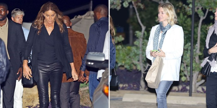 CAITLYN JENNER AND NAOMI WATTS. Nobu-sushi-noshing friends.