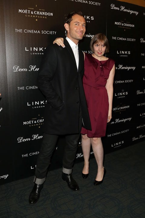 JUDE LAW AND LENA DUNHAM. Cocktail party-ready friends.