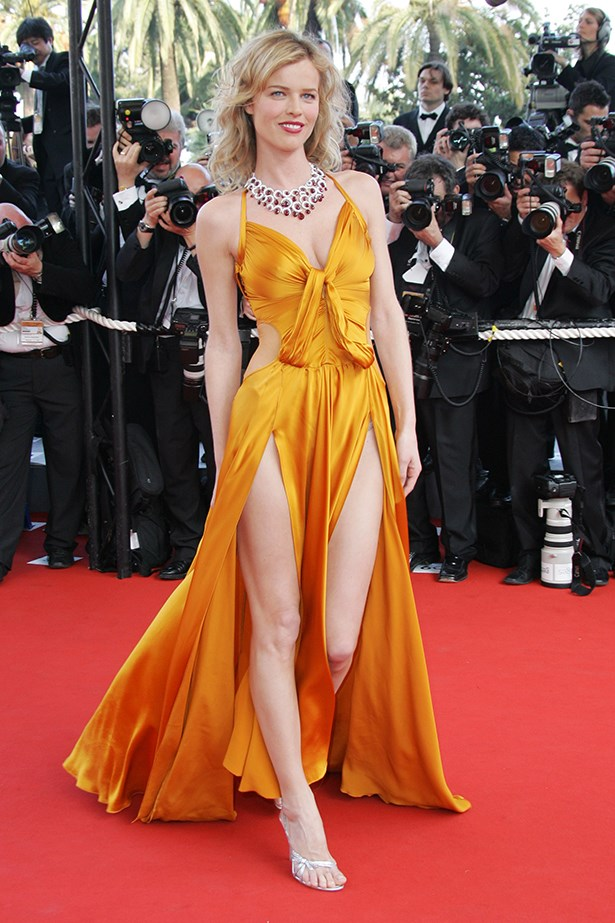 Like, Kendall at the AMAs, Eva Herzigova also went double barrel at Cannes.